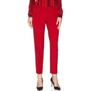 Anne Klein Titan Red Slim Leg Bowie Dress Pants